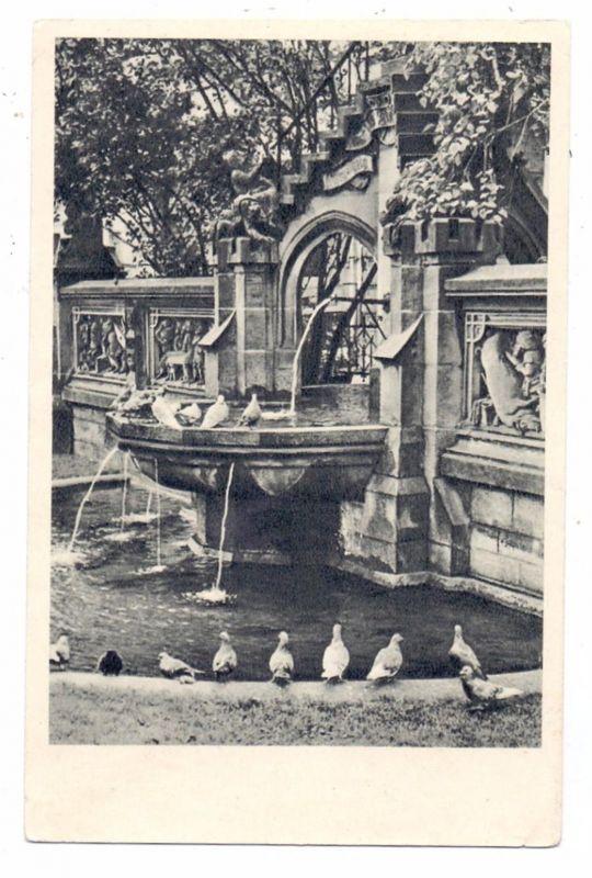 5000 KÖLN, Heinzelmännchen-Brunnen, Tauben, 50er Jahre