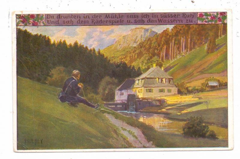 KÜNSTLER / ARTIST - PAUL HEY, Volksliederkarte Nr.68,
