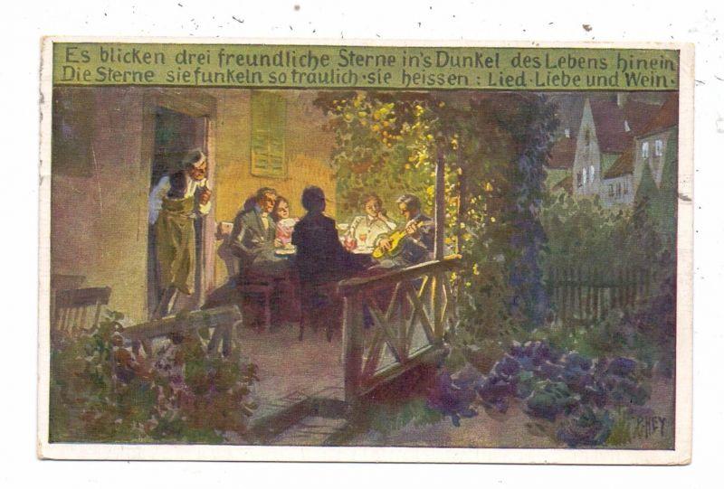 KÜNSTLER / ARTIST - PAUL HEY, Volksliederkarte Nr.71,