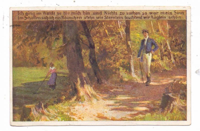 KÜNSTLER / ARTIST - PAUL HEY, Volksliederkarte Nr.62,