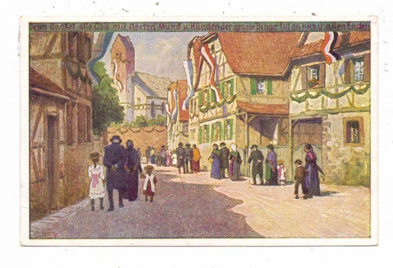 KÜNSTLER / ARTIST - PAUL HEY, Volksliederkarte Nr.46,