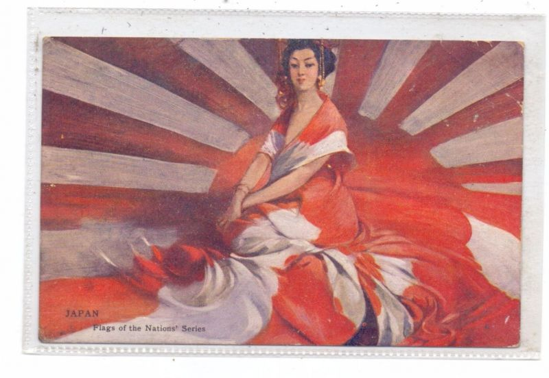 NIPPON / JAPAN - Flags of the nations, Valentine*s Series