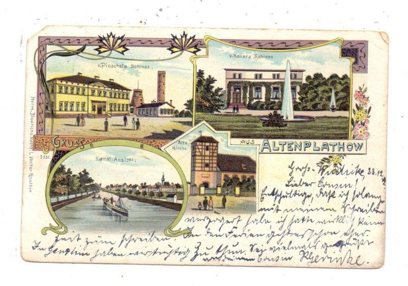 0-3280 GENTHIN - ALTENPLATHOW, Lithographie, 1902, Eckmangel