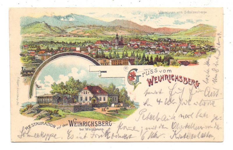 NIEDER-SCHLESIEN - BAD WARMBRUNN-WEIHRICHSBERG / CIEPLICE, Lithographie, Restauration auf dem Weihrichsberg 0