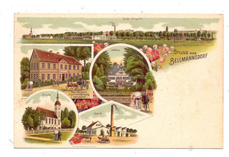 NIEDER-SCHLESIEN - SCHÖNBERG-BELLMANNSDORF / SULIKOW-RADZIMOW, Lithographie, Fabrik, Zigarrenhandlung... 0