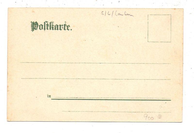 NIEDER-SCHLESIEN - SCHÖNBERG-BELLMANNSDORF / SULIKOW-RADZIMOW, Lithographie, Fabrik, Zigarrenhandlung... 1