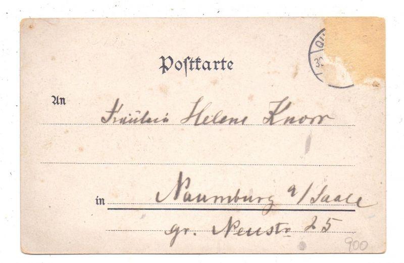 NIEDER-SCHLESIEN - QUARITZ-GUSTAU / GAWORZYCE-GOSTYN, Lithographie, Schloss, Gasthaus, Brfm. entfernt 1