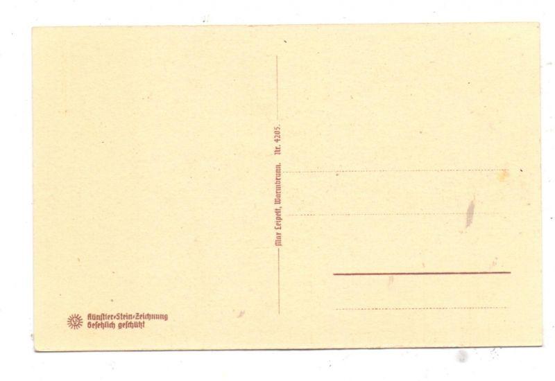 NIEDER-SCHLESIEN - KRUMMHÜBEL / KARPACZ, Kirche Wang, Steindruck 1