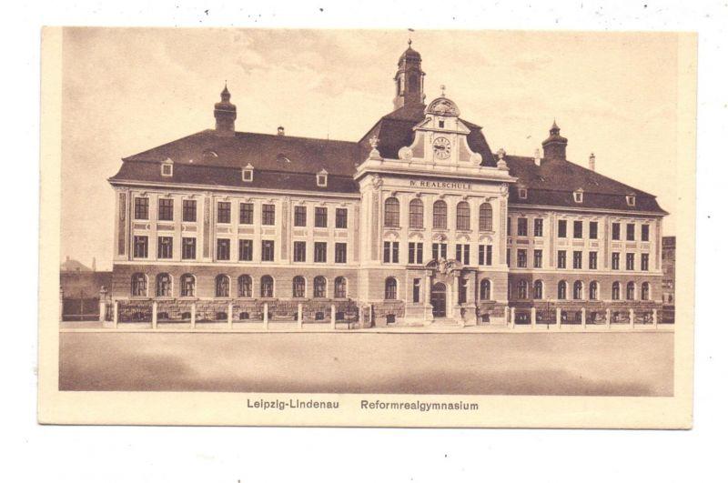0-7000 LEIPZIG - LINDENAU, Reformrealgymnasium