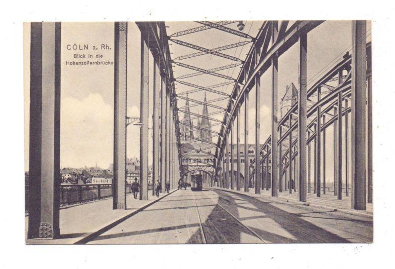 5000 KÖLN, Blick in die Hohenzollernbrücke, Strassenbahn