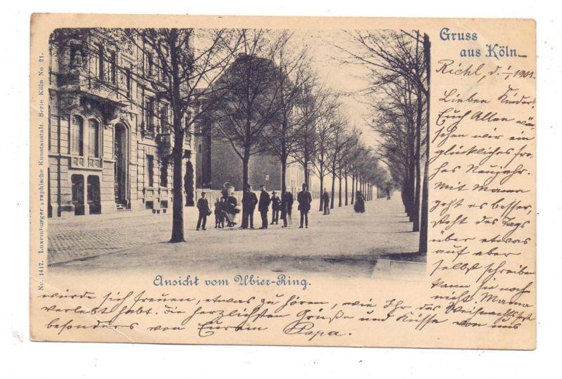 5000 KÖLN, Ubier-Ring, 1901, Luxemburger graphische Kunstanstalt - Bernhoeft, Serie Köln Nr.21, Druckstelle