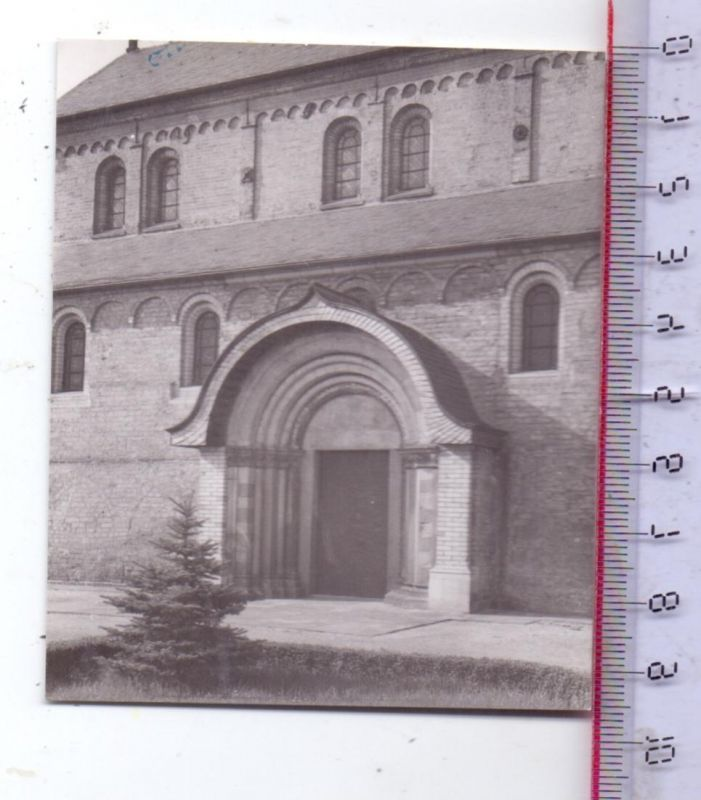 4047 DORMAGEN - KNECHTSTEDEN, Kloster, Südportal, Photo 8 x 9,5 cm, 1950