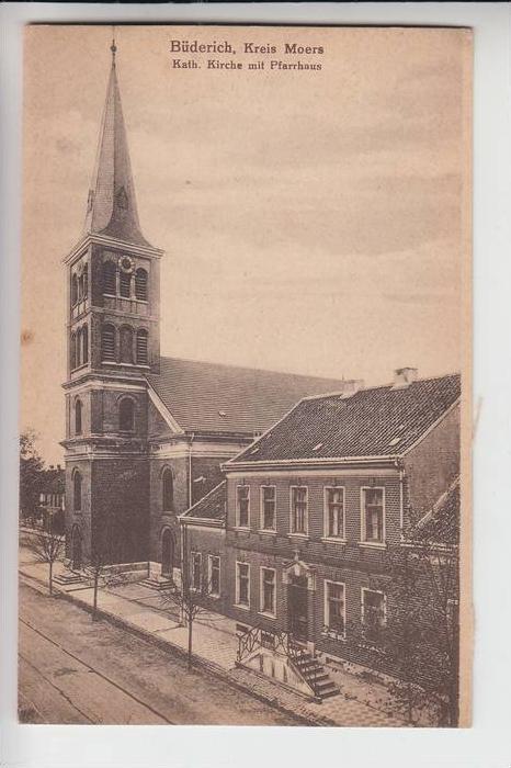 4230 WESEL - BÜDERICH, Kath. Kirche mit Pfarrhaus 0