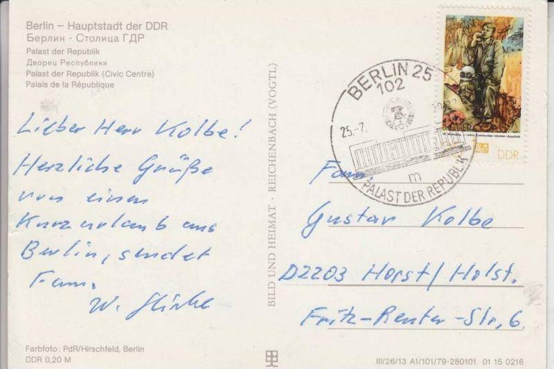 1000 BERLIN, Palast der Republik, Poststempel Palast der Republik 1