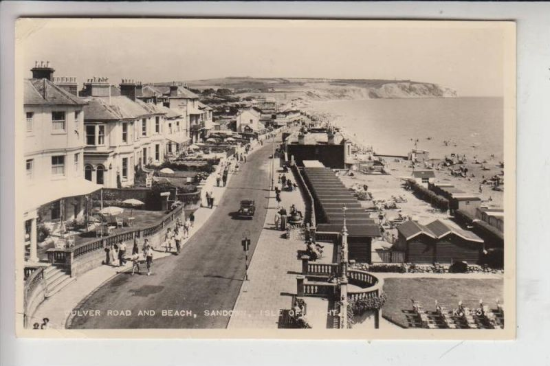 UK - ENGLAND - ISLE OF WIGHT, SANDOWN, Culver Road and Beach 1959 0
