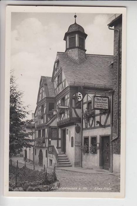 6220 RÜDESHEIM - ASSMANNSHAUSEN, Altes Haus, NS-Beflaggung 0