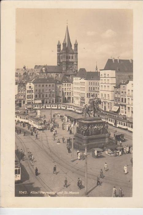 5000 KÖLN, Heumarkt und St. Martin, Strassenbahnen - Trams, Rheingold-Serie 0