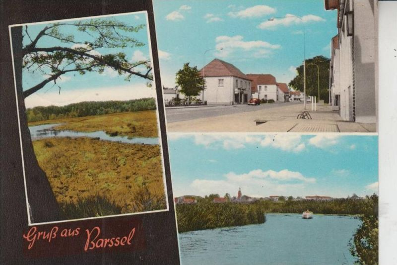 2919 BARSSEL, Mehrbildkarte handcoloriert 60/70-er Jahre 0