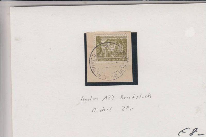 BERLIN 123 Jagdschloss Grunewald auf Briefstück