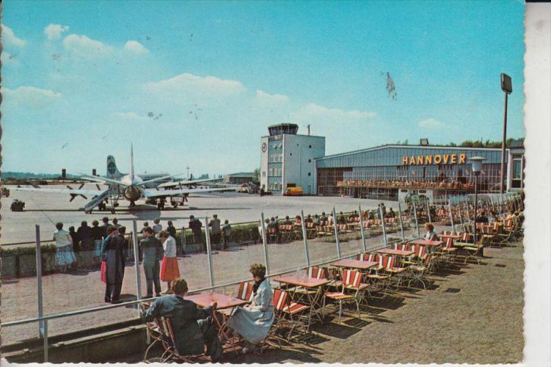 FLUGZEUGE - FLUGHAFEN / AIRPORT Hannover - Langenhagen, 60er Jahre