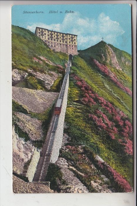 CH 6770 STANS, Stanserhorn, Hotel & Bahn, 1921