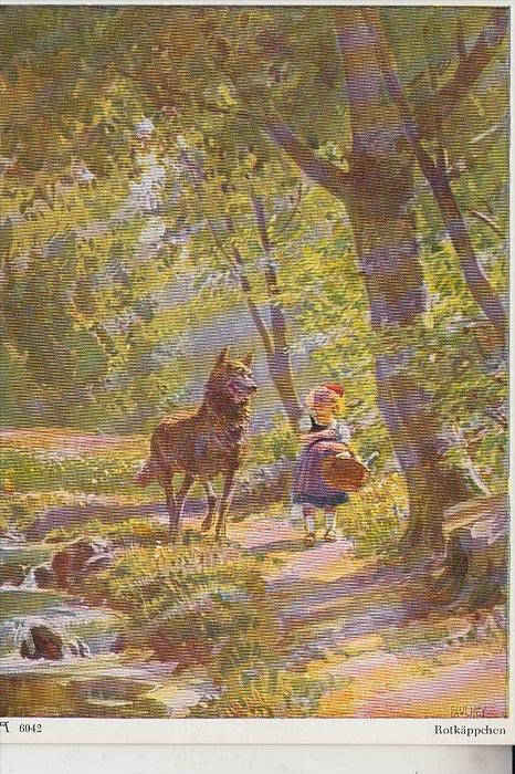 KÜNSTLER - ARTIST - PAUL HEY - Rotkäppchen, Wolf, Märchen