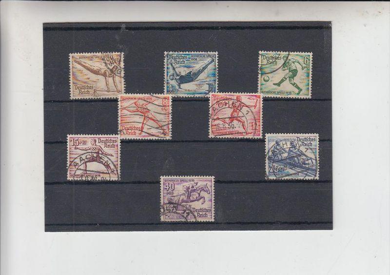 DEUTSCHES REICH, Olympische Sommerspiele 1936, Michel 609 - 616