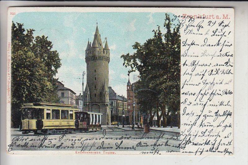 STRASSENBAHN - TRAM, Frankfurt/Main, 1903