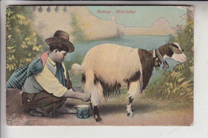 TIERE - ZIEGEN / Goats / Geiten / Chevres / Capras / Cabras - Malta Milk seller