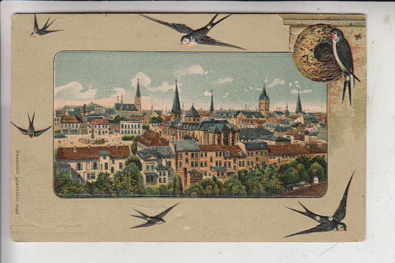 TIERE - VÖGEL - SCHWALBEN / Swallows / Hirondelles / Rondini / Zwalufen / Golondrinas- geprägt / embossed / relief, 1910