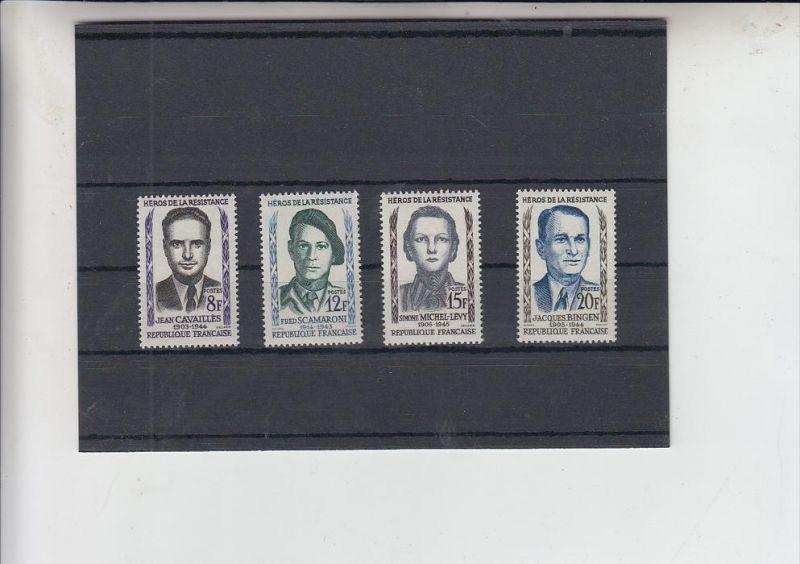 FRANKREICH, 1958, Widerstandskämpfer, Michel 1193 - 1196 postfrisch