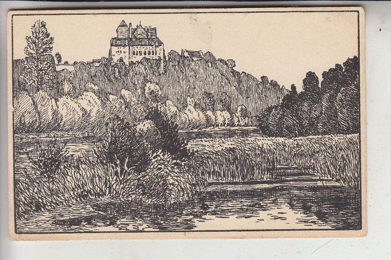CH 5103 MÖRIKEN - WILDEGG, Künstler-Karte Pro Juventute