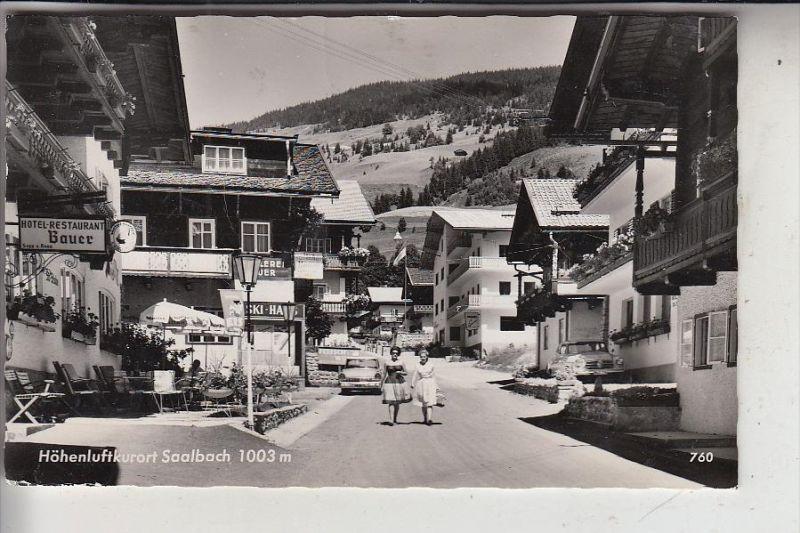 A 5753 SAALBACH, Strassenansicht, 195..., kl. Druckstelle