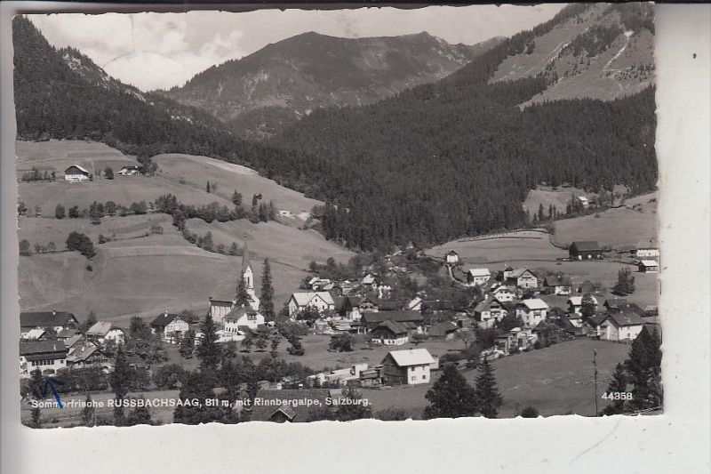 A 5422 RUSSBACH - RUSSBACHSAAG, Ortsansicht, 1958