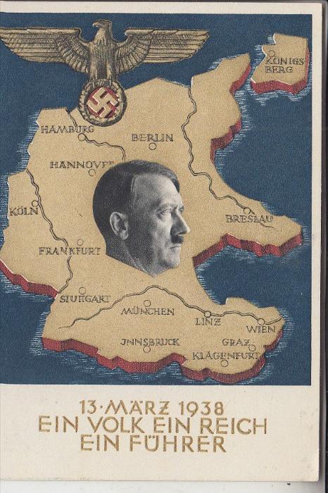 GESCHICHTE - Sonder-Ganzsache, Eingliederung Österreichs in das Deutsche Reich, Sonder-Stempel