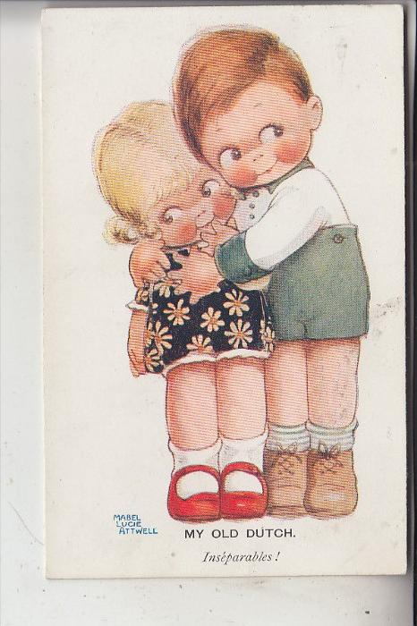 KÜNSTLER - ARTIST - MABEL LUCIE ATTWELL, MY OLD DUTCH / Inseparables, G.J.Paris  #548, very good condition