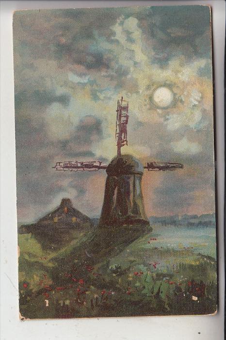 MÜHLE - WINDMÜHLE / Molen / Mill / Moulin - Artist/Künstler-AK, 1905
