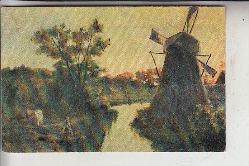 MÜHLE - WINDMÜHLE / Molen / Mill / Moulin - Artist/Künstler-AK, 1920