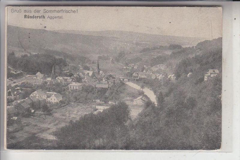 5250 ENGELSKIRCHEN - RÜNDEROTH, Ortsansicht, 1913