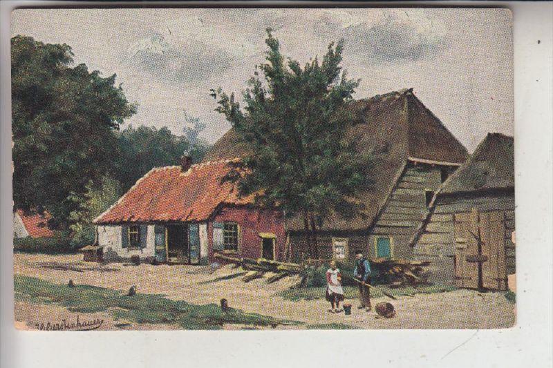 KÜNSTLER - ARTIST - Johan Georg Gerstenhauer, Werbekarte Theehaus Wadi-Kisan Norden
