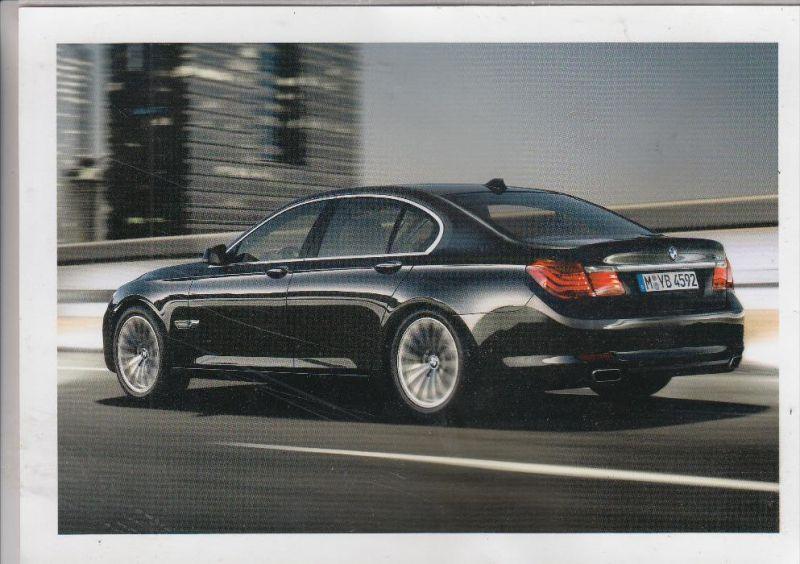 PKW - BMW 7er, Techn. Daten 21 x 15 cm