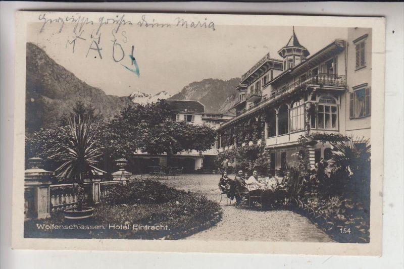 CH 6386 WOLFENSCHIESSEN, Hotel Eintracht, 1929