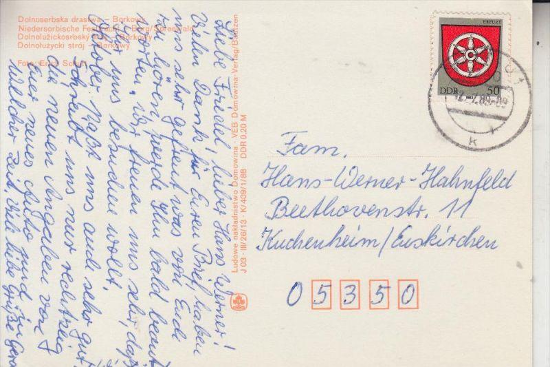 DDR 2820, Ak - Einzelfrankatur, portogerecht, Auslandsporto, 12.7.1989