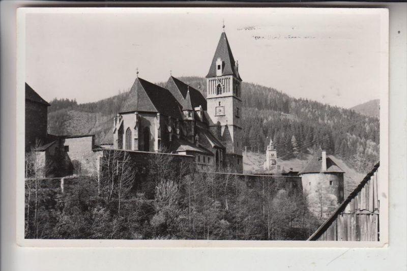 A 8790 EISENERZ, Oswaldikirche mit Schichtturm