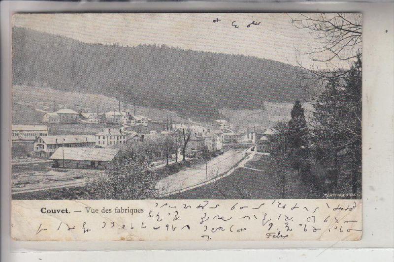 CH 2108 COUVET, Vue des fabriques, 1903