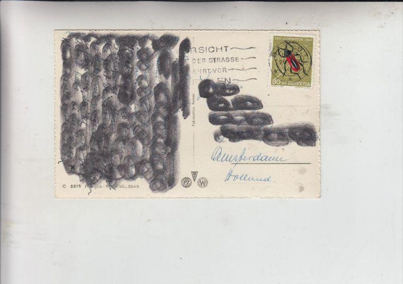 SCHWEIZ, 1953, Zumstein Pro Juventute 151, Michel  591, Einzelfrankatur, Anschrift & Text geschwärzt