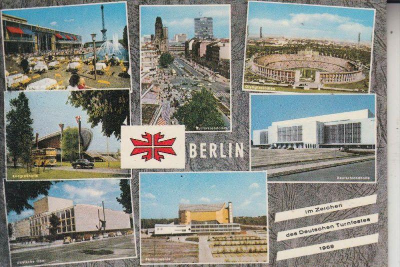 SPORT - TURNEN, Deutsches Turnfest 1968 BERLIN, Sonderkarte / Briefmarke / Sonderstempel
