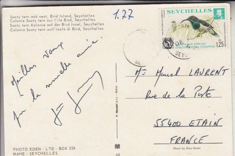 SEYCHELLEN - 1976, Michel 363, Einzelfrankatur nach Etain / F