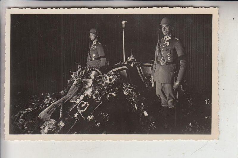 BERÜHMTE PERSONEN, von Hindenburg, Aufbahrung, Photo-AK