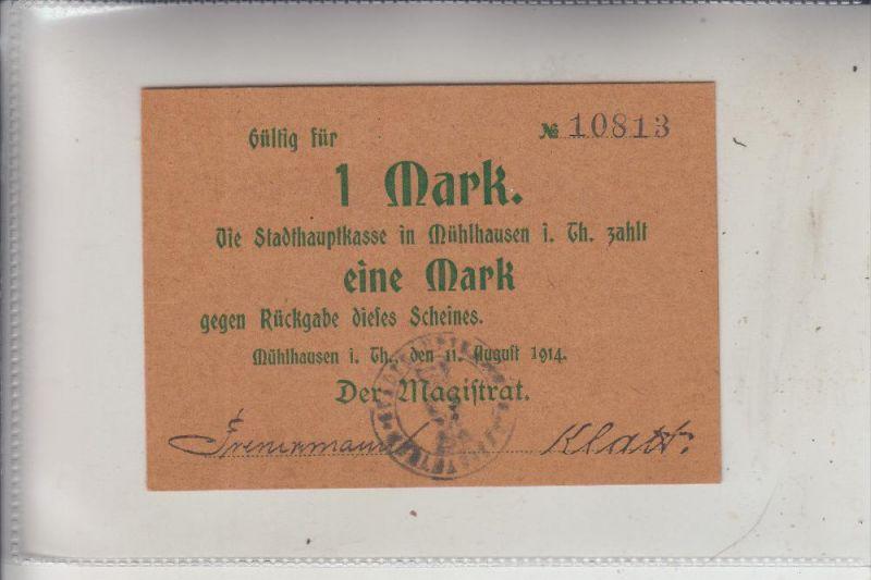 NOTGELD - MÜHLHAUSEN / Thüringen, 1 Mark, 1914, Erhaltung I